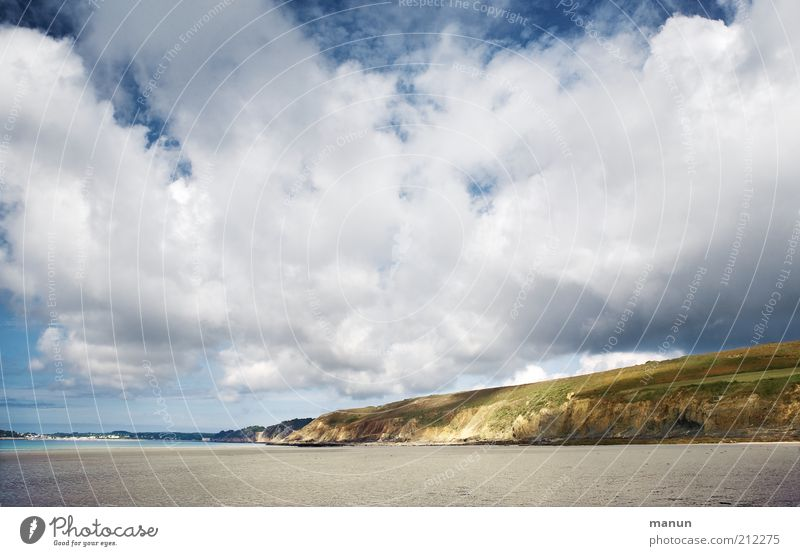 Bretagne, Wolken über l'Aber Natur Sommer Strand Meer Ferien & Urlaub & Reisen Wolken Ferne Erholung Freiheit Landschaft Umwelt Sand Küste Wetter Erde Felsen
