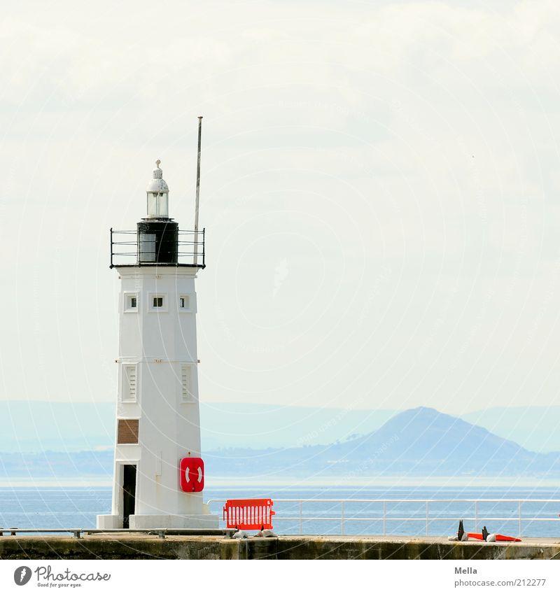 Es war ein schöner Tag, Ferien & Urlaub & Reisen Ausflug Ferne Sommer Sommerurlaub Meer Umwelt Landschaft Küste Insel Leuchtturm Bauwerk Gebäude hell blau weiß