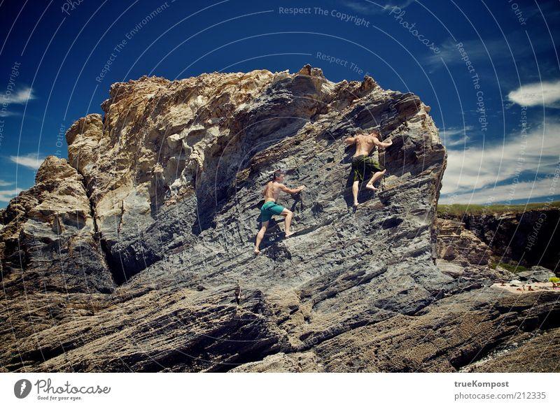 Republica Portugesa II Mensch Natur Jugendliche Himmel Sonne Meer Sommer Freude Ferien & Urlaub & Reisen Ferne Freiheit Wärme Sand Landschaft Küste