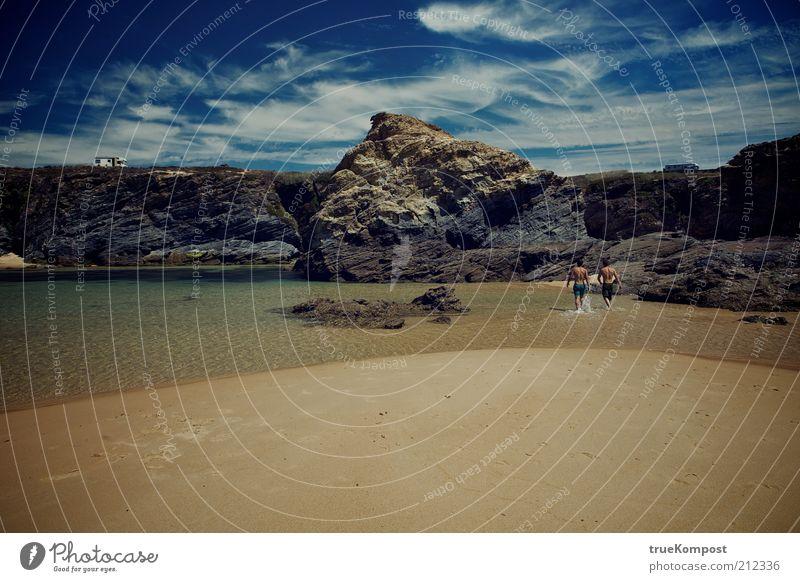 Republica Portugesa III Mensch Natur Wasser Himmel Meer Sommer Strand Ferien & Urlaub & Reisen ruhig Ferne Freiheit Stein Sand Wärme Landschaft Zusammensein