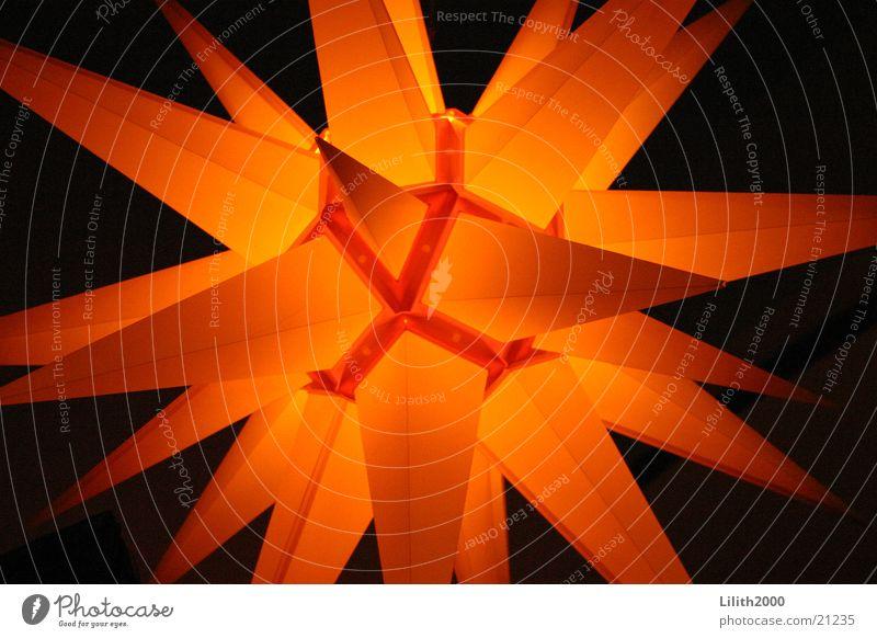 Shining Star Licht Lampe Makroaufnahme Nahaufnahme Stern (Symbol) Weihnachten & Advent orange