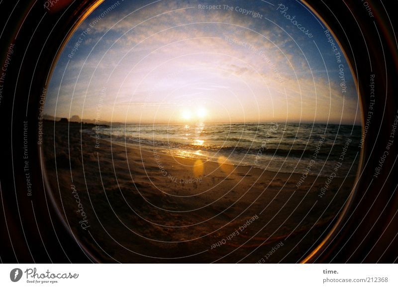 Frühe Liebe Himmel Natur Sonne ruhig Wolken Strand Leben Glück Sand Horizont Wellen Zufriedenheit Ostsee Sehnsucht Abenddämmerung Naturliebe