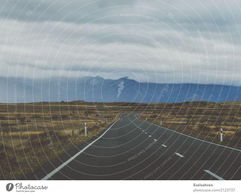Wege Natur Landschaft Erde Himmel Wolken Gewitterwolken Berge u. Gebirge Steppe Menschenleer Verkehrswege Autofahren Straße Wege & Pfade