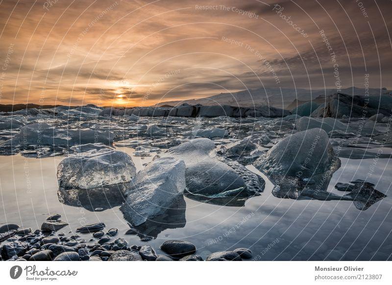Diamond Beach, Jökulsárlón Glacier Lagoon, Iceland Natur Landschaft Sonnenaufgang Sonnenuntergang Klima Eis Frost Wellen Küste Strand Lavastrand Fotografieren