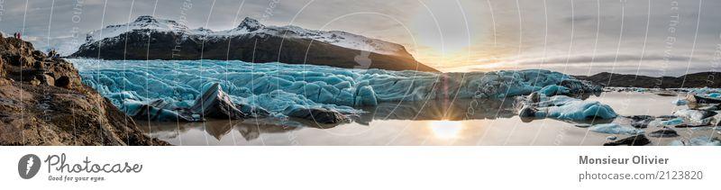 Gletscher Bucht, Island Natur Landschaft Berge u. Gebirge Gipfel Schneebedeckte Gipfel Ferien & Urlaub & Reisen Abenteuer Aktivurlaub Abenteuerurlaub Eis Winter