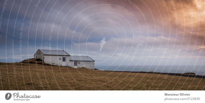 Dyrhólaey, Island Himmel Natur blau Sonne Landschaft Wolken Ferne Reisefotografie Wärme gelb Umwelt Gebäude Freiheit gold Bauwerk violett