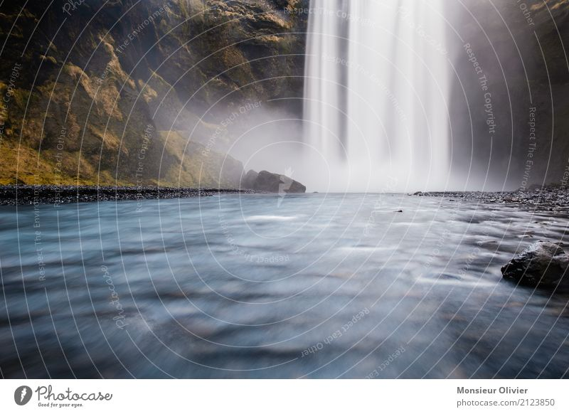 Wasserfall island Umwelt Natur Landschaft Fluss Abenteuer Island Reisefotografie Ferien & Urlaub & Reisen Naturgewalt Reisefieber Farbfoto Außenaufnahme