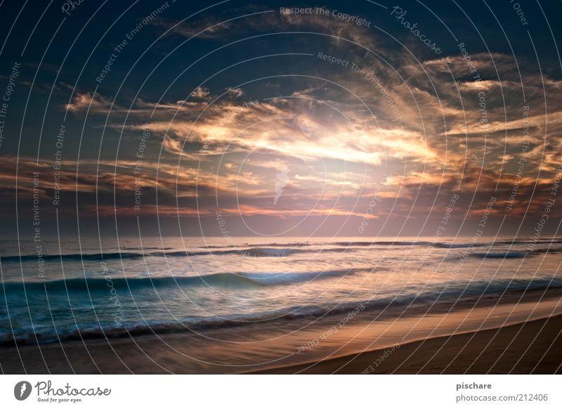 Heaven II Natur Sand Wasser Himmel Wolken Sonnenaufgang Sonnenuntergang Sommer Schönes Wetter Wellen Küste Strand Meer ästhetisch außergewöhnlich exotisch