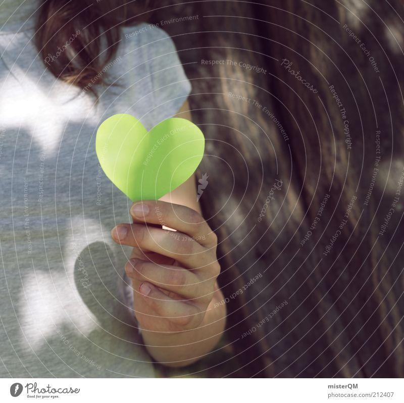 Naturverbunden. Natur Jugendliche Hand grün schön ruhig Umwelt Kraft Zufriedenheit elegant Perspektive Hoffnung einzigartig Vergänglichkeit Idylle festhalten
