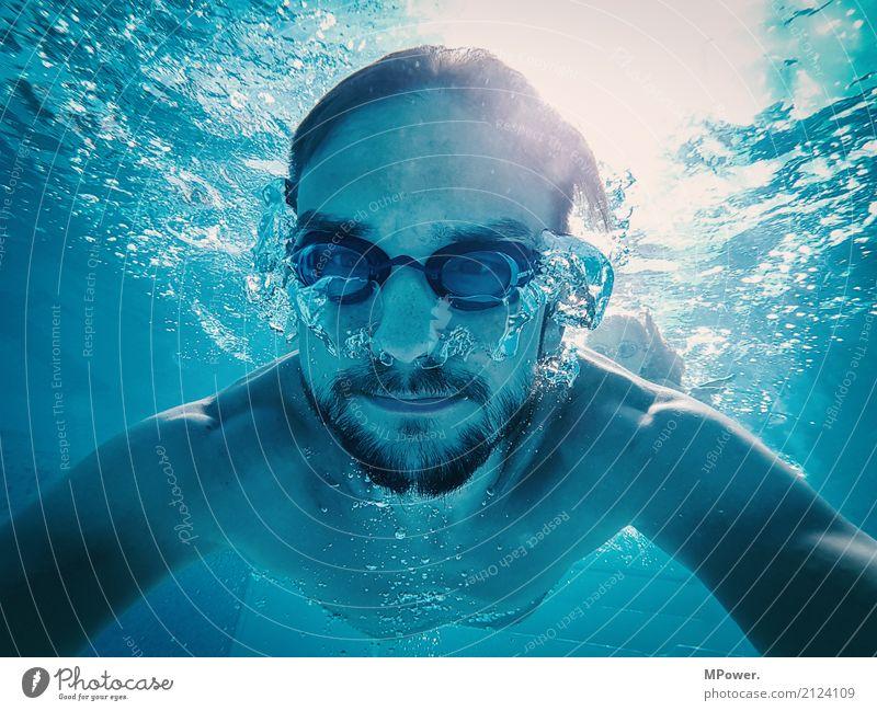 underwaterselfie Lifestyle sportlich Fitness Freizeit & Hobby Ferien & Urlaub & Reisen Tourismus Sport Sport-Training Mensch maskulin Junger Mann Erwachsene 1