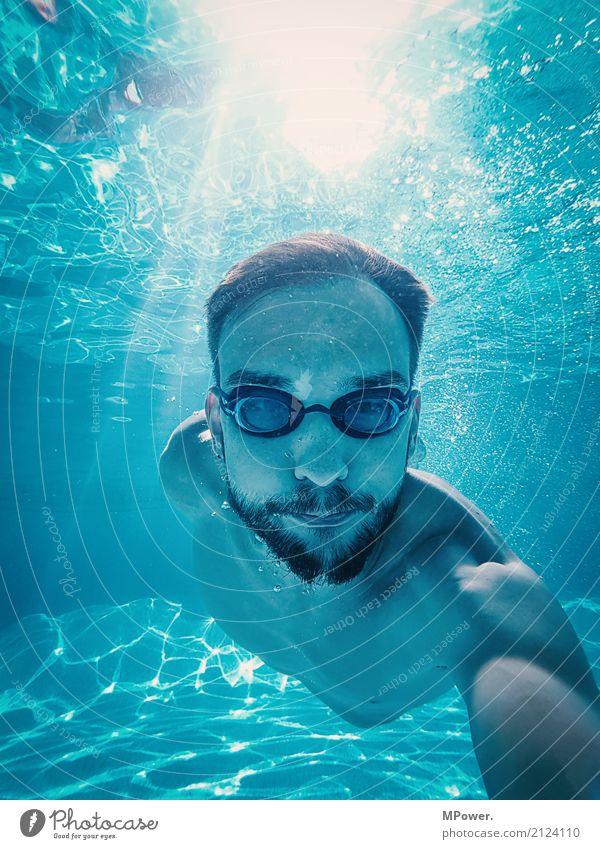 underwaterselfie Mensch Ferien & Urlaub & Reisen Jugendliche Mann blau Wasser Junger Mann Freude 18-30 Jahre Erwachsene Lifestyle Sport Tourismus