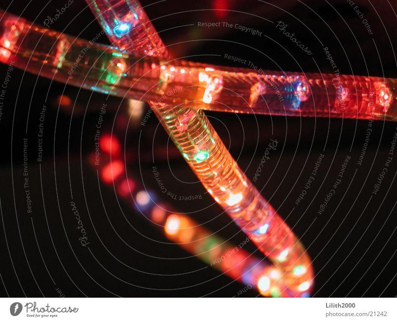 Lichterkette mehrfarbig Lampe Disco glänzend