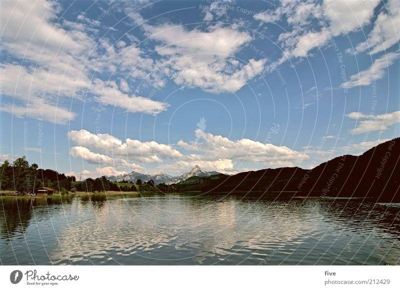 allgäu Natur Wasser schön Himmel Ferien & Urlaub & Reisen ruhig Wolken Wald Berge u. Gebirge See Landschaft Umwelt natürlich Unendlichkeit Idylle Seeufer