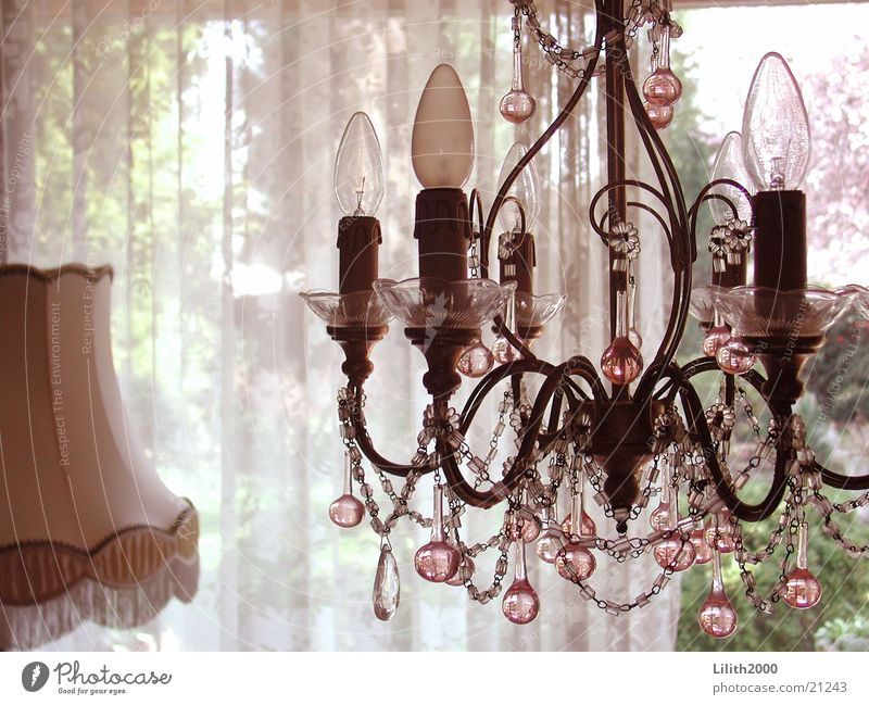 Kronleuchter Lampe Kerze Vorhang Wohnzimmer Stehlampe Lampenschirm Häusliches Leben Lüster Glas Perle