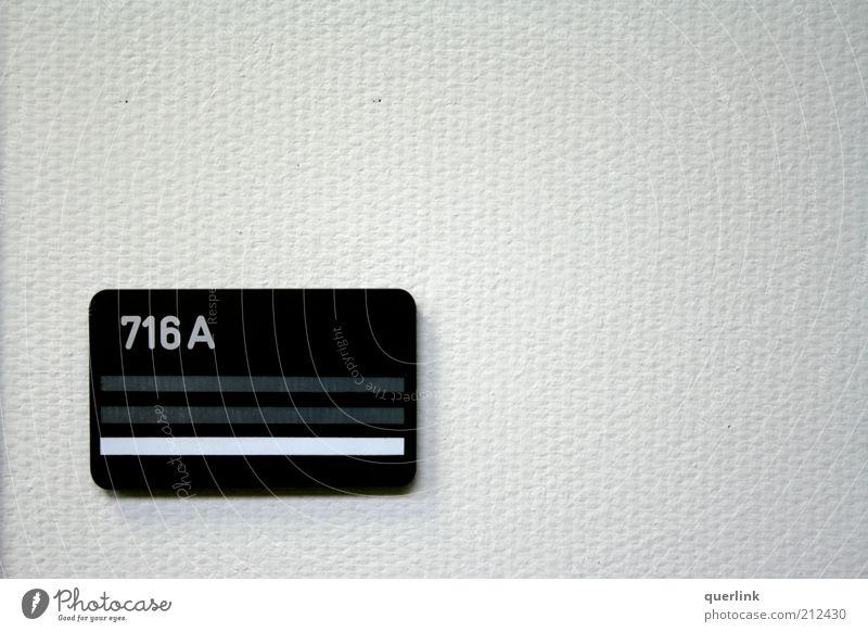 Tempelhof Büroschild weiß kalt Wand Mauer hell leer ästhetisch Ziffern & Zahlen Tapete Gebäude Namensschild Nummerntafel
