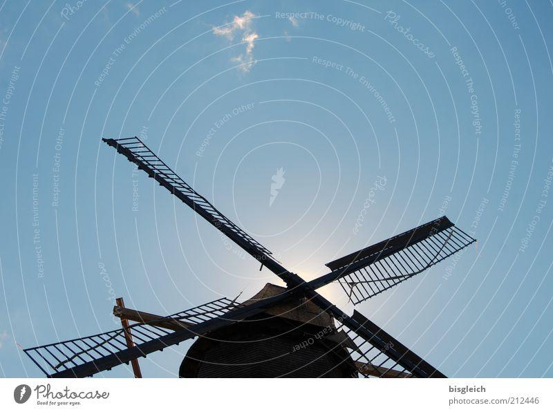 Mühle Himmel blau Wind Handwerk Blauer Himmel fleißig Windmühle Wolkenloser Himmel Windmühlenflügel