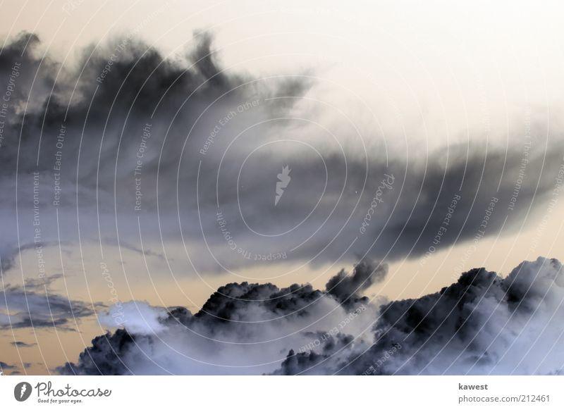 Gewitter Wolken Himmel Natur weiß Sommer schwarz Herbst Gefühle grau Traurigkeit Luft Wind Wetter Umwelt groß hoch
