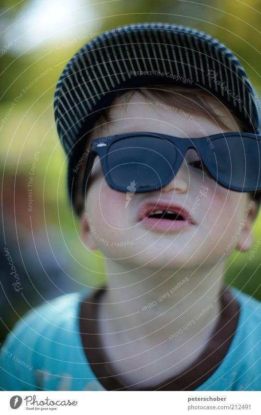 sonnenbrille Mensch Kind Natur Freude Gesicht Junge Spielen Kopf lustig groß verrückt Freizeit & Hobby einzigartig Kindheit Kleinkind
