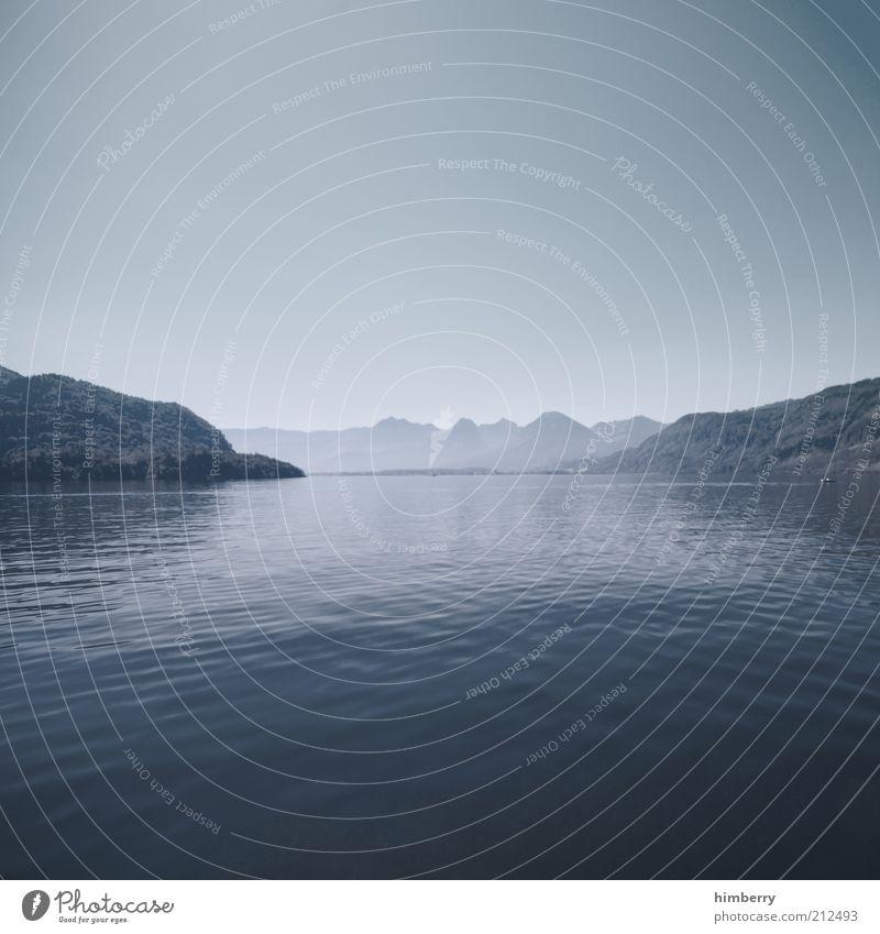 complete silence See Himmel Natur Wasser Pflanze Ferien & Urlaub & Reisen ruhig Ferne Erholung Freiheit Berge u. Gebirge Landschaft Umwelt Küste Zufriedenheit