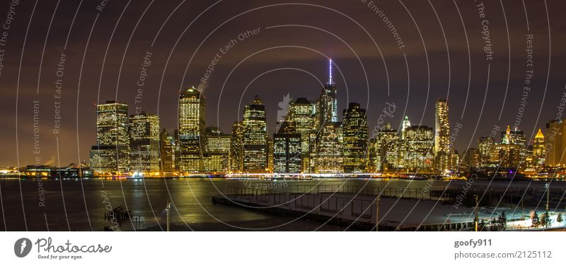 NYC at Night Ferien & Urlaub & Reisen Tourismus Ausflug Ferne Freiheit Sightseeing Städtereise New York City USA Stadt Stadtzentrum Stadtrand Skyline bevölkert