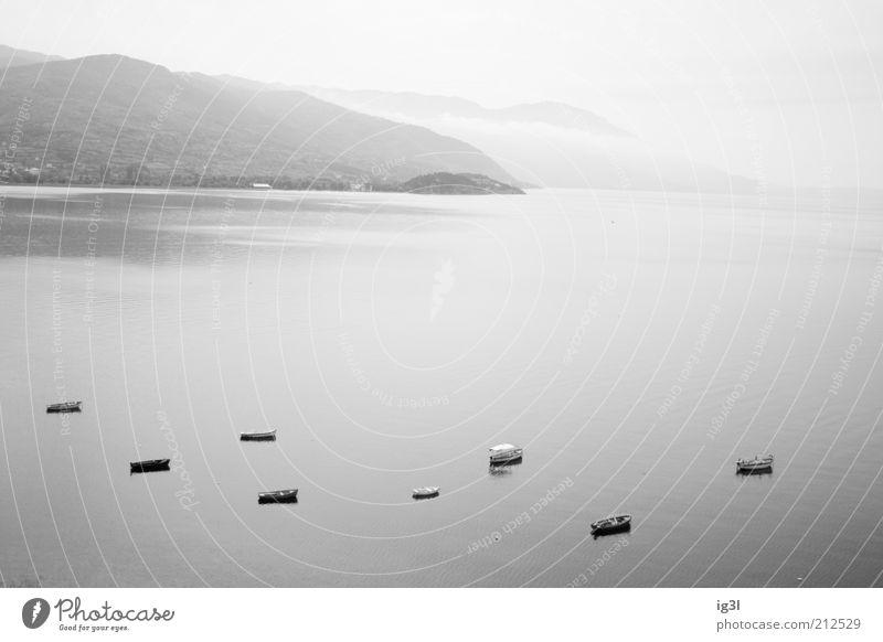 silence Wasser Meer Ferien & Urlaub & Reisen ruhig Ferne kalt Freiheit Traurigkeit Landschaft Zufriedenheit Kraft Nebel Horizont Ausflug Hoffnung authentisch