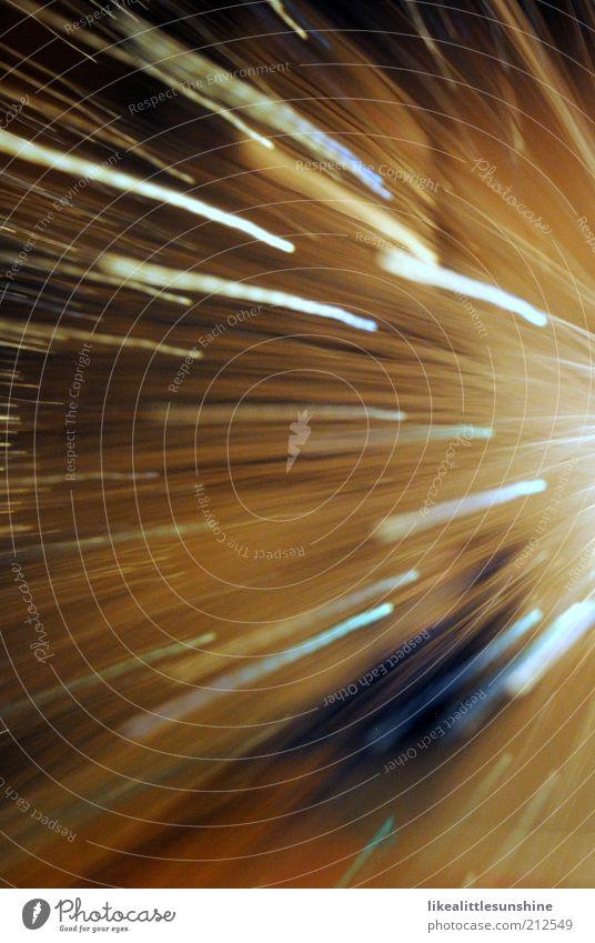 Lichtstrahlen Lampe Bewegung glänzend leuchten blau braun schwarz weiß Gedeckte Farben Innenaufnahme Experiment Menschenleer Abend Kunstlicht Lichterscheinung