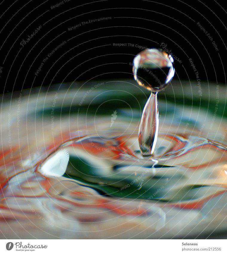 tropfnass Wasser Bewegung klein Wassertropfen Geschwindigkeit frisch Trinkwasser rund Tropfen Sauberkeit rein Klarheit einzigartig natürlich Flüssigkeit