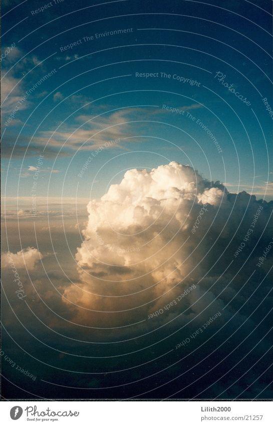 Über den Wolken Himmel Sonne Ferien & Urlaub & Reisen Luftverkehr