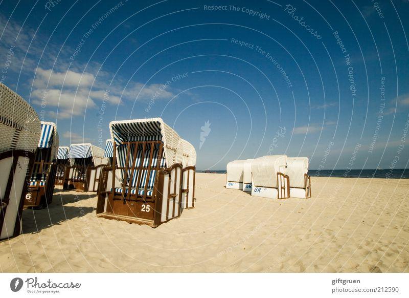 25 Natur Himmel Meer blau Sommer Strand Ferien & Urlaub & Reisen ruhig Wolken Erholung Freiheit Sand Landschaft Zufriedenheit Küste Umwelt