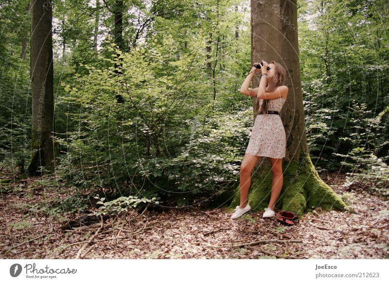 jugend forscht 02 Frau Mensch Natur Jugendliche schön Baum Pflanze Ferne Wald Leben Erwachsene Schuhe Freizeit & Hobby Ausflug lernen Lifestyle