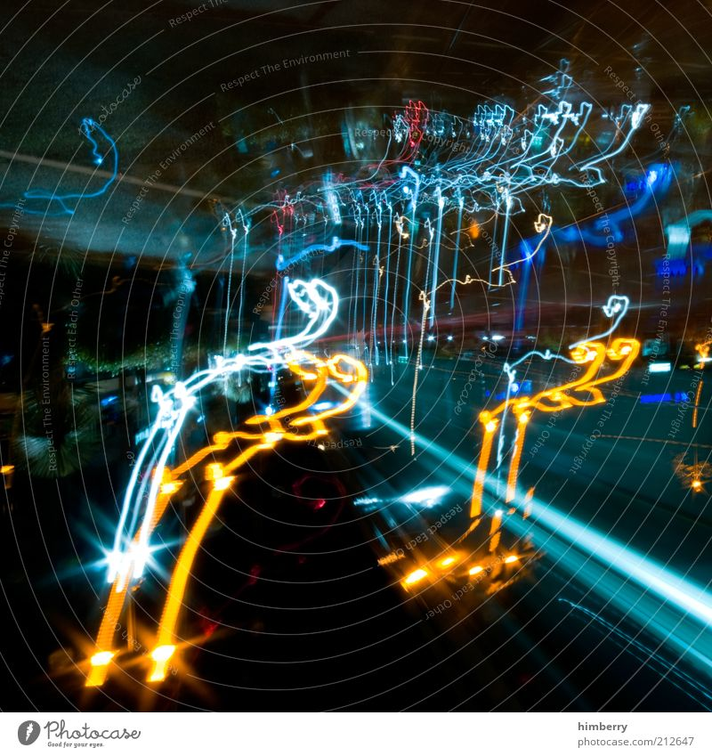 false light Stil Design Kunst bizarr skurril Farbfoto mehrfarbig Experiment abstrakt Strukturen & Formen Menschenleer Nacht Kunstlicht Kontrast