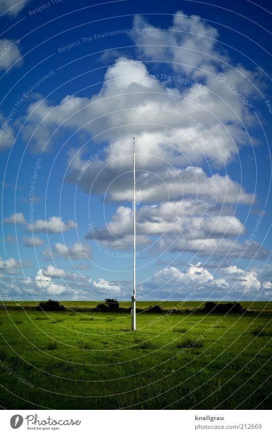 unbeflaggt Natur Himmel Meer Ferien & Urlaub & Reisen ruhig Wolken Ferne Erholung Wiese Landschaft Wetter leer Insel Freizeit & Hobby Mitte Nordsee