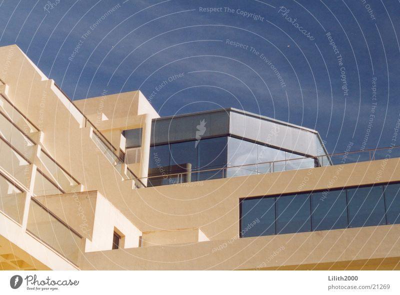 Hotel Sommer Gebäude Balkon Architektur Himmel Glas