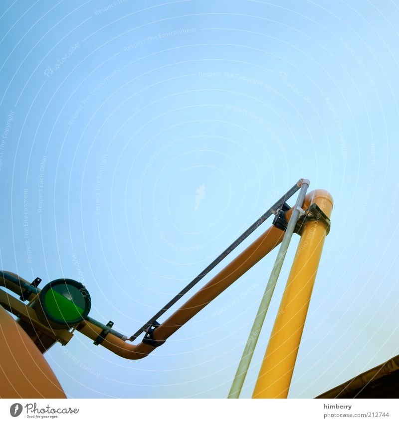 druckstufe gelb Verkehr Industrie Zukunft Technik & Technologie Güterverkehr & Logistik Fabrik Baustelle Wissenschaften Dienstleistungsgewerbe Röhren Handwerk Maschine Unternehmen Blauer Himmel Messinstrument