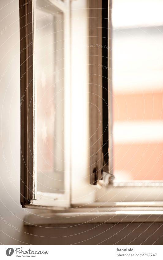 windows analog Fenster schwarz weiß Fensterbrett Aussicht Raum Glas Linie offen Fensterrahmen Holz Farbfoto Gedeckte Farben Innenaufnahme Menschenleer Tag