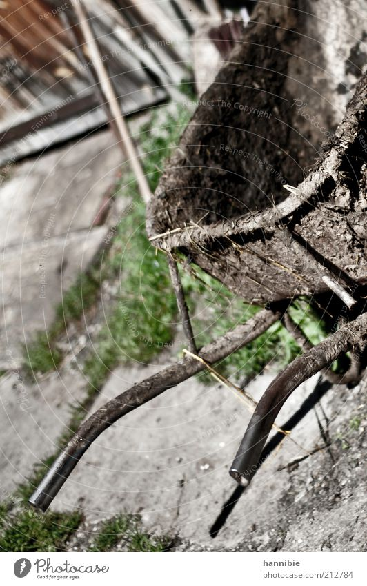 Saubere Arbeit grün Arbeit & Erwerbstätigkeit grau Wege & Pfade braun Kraft Metall dreckig Dorf Landwirtschaft verbinden fleißig Stall diszipliniert schieben