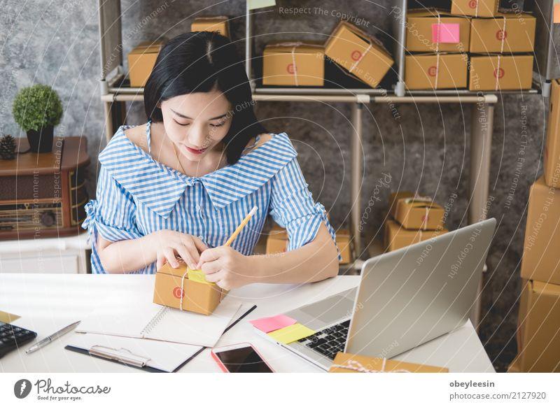 Frau Jugendliche schön Erwachsene Glück Lächeln kaufen niedlich Studium fahren Beruf Internet Student Sofa Wohnzimmer digital