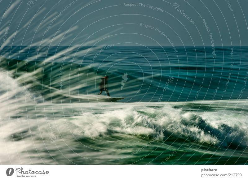 Energy II Wasser blau Sommer Meer Sport Bewegung Wellen Horizont Freizeit & Hobby Wassertropfen Geschwindigkeit maskulin ästhetisch Lifestyle Coolness Urelemente