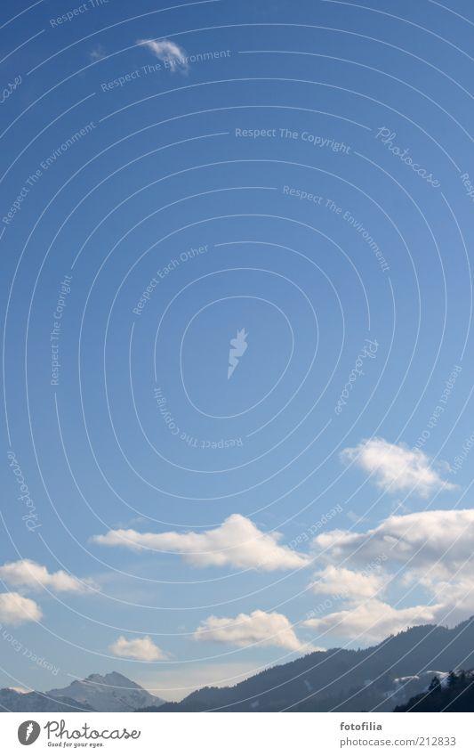 himmel über garmisch Natur Himmel weiß blau Winter Ferien & Urlaub & Reisen ruhig Wolken Ferne Schnee Berge u. Gebirge Freiheit Landschaft Eis Zufriedenheit