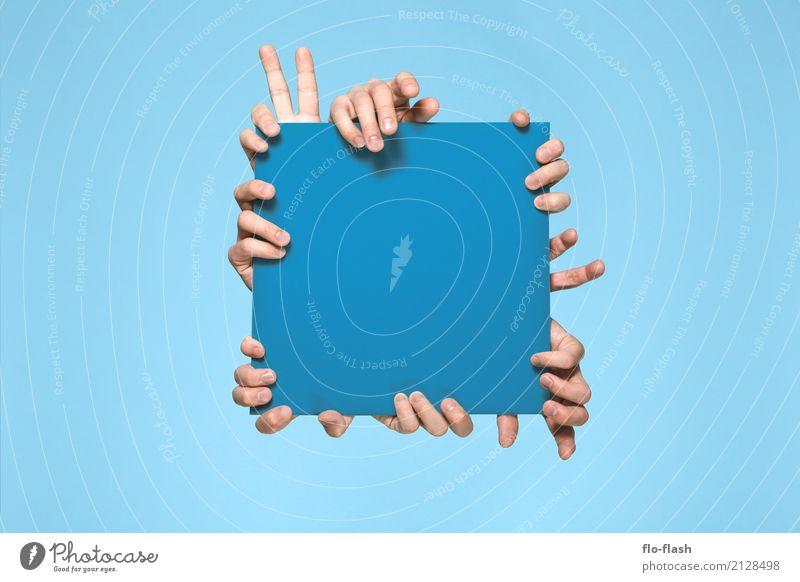 FINGERTHING IV (blue) Mensch blau schön Freude Leben Lifestyle lustig Spielen Business Feste & Feiern Menschengruppe Design Erfolg verrückt Finger kaufen