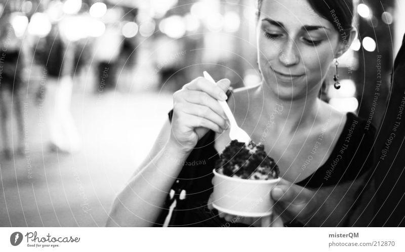 New York City Nights. Frau schön Ernährung feminin Stil Essen elegant Speiseeis Lifestyle ästhetisch Freizeit & Hobby lecker Tourist Speise