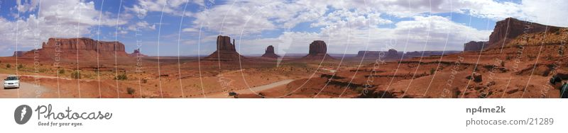 Monumet Valley USA Himmel Wolken Berge u. Gebirge USA Arizona Monument Valley Rote Steine