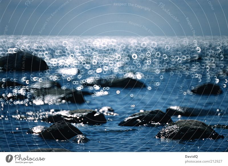 Klein Zicker Umwelt Natur Wasser Himmel Horizont Küste Ostsee Stein Felsen Kreis Spiegellinsenobjektiv (Effekt) Farbfoto Außenaufnahme abstrakt Menschenleer Tag
