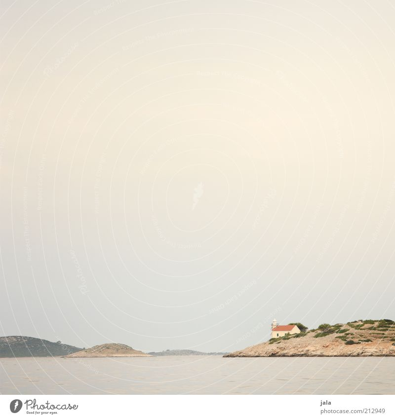 stillness Himmel Meer Sommer Ferien & Urlaub & Reisen Ferne Gebäude Landschaft Insel Kirche Hügel Bauwerk Kroatien Kapelle Wolkenhimmel