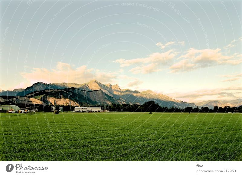 falknis Natur Himmel Baum Pflanze Sommer Wolken Wiese Gras Berge u. Gebirge Gebäude Landschaft Feld Wetter groß Felsen Erde