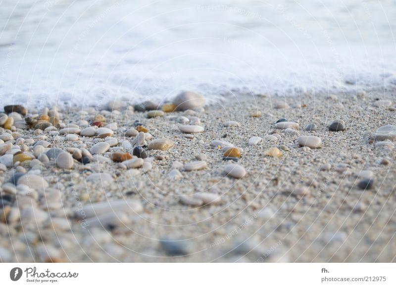 Dein Steinchen in der Brandung Ferien & Urlaub & Reisen Strand Meer Wellen Schaum Gischt Landschaft Wasser Wind Küste Mittelmeer Sand Flüssigkeit nass