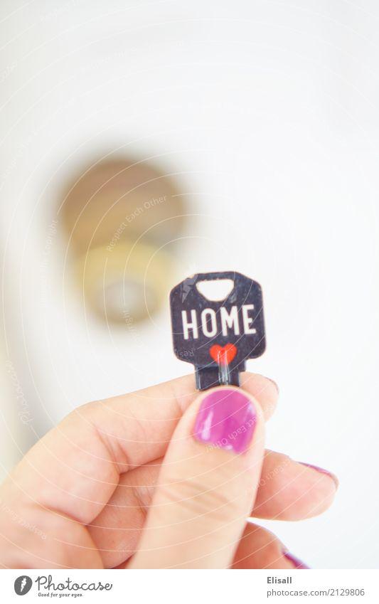 Schlüssel zum neuen Zuhause Lifestyle kaufen Freude Häusliches Leben Haus Traumhaus Hausbau Umzug (Wohnungswechsel) einrichten Feste & Feiern Schloss Bewegung