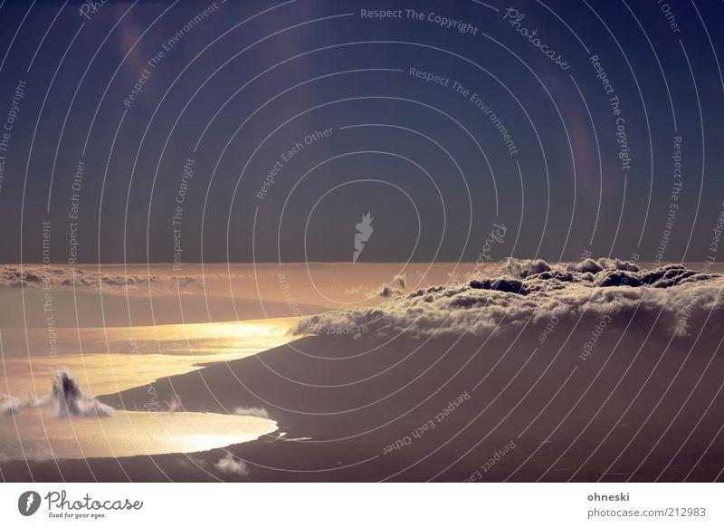 Kraterblick Luft Wasser Himmel Sonnenaufgang Sonnenuntergang Sommer Küste Bucht Meer Maui Hoffnung Ferne Haleakala Farbfoto Abend Reflexion & Spiegelung