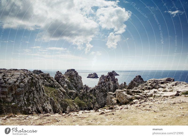 Tas des pois Natur Meer Ferien & Urlaub & Reisen Wolken Ferne Berge u. Gebirge Landschaft Küste Horizont Felsen Ausflug Perspektive Tourismus Aussicht