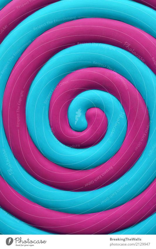 Bunte abstrakte blaue und purpurrote Spirale Feste & Feiern Jahrmarkt Kunst lustig violett zyan magenta Muster verdrillt Farbe spinnen drehen Bewegung